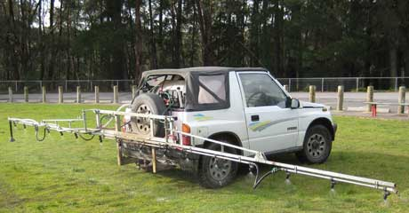 Organic Fertiliser Spray Vehicle